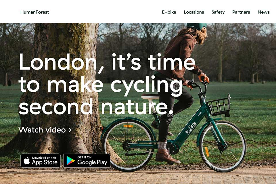 Human Forest e-bike rental